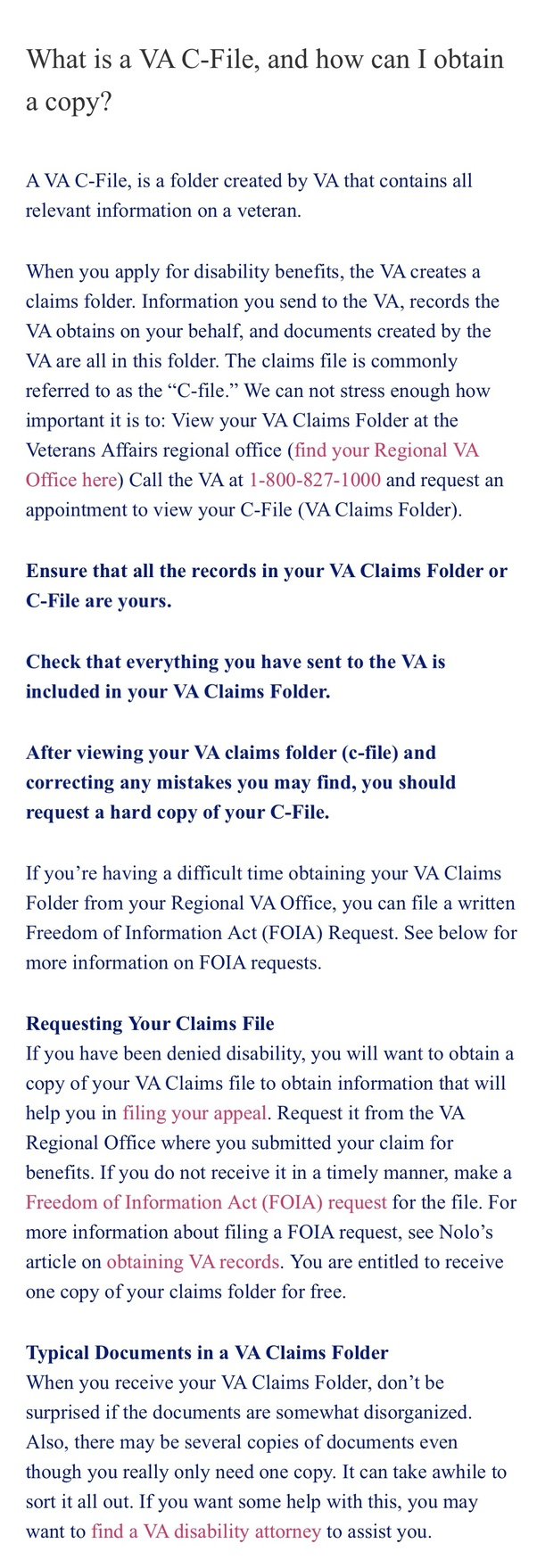 What is a veterans C-File? - Quora