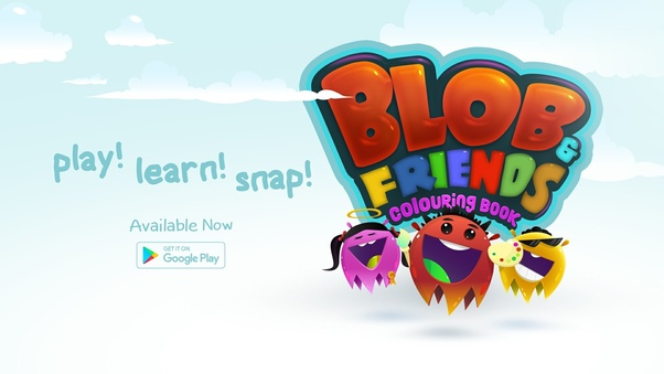 Blob Friends Coloring Book