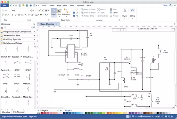 What is a free for drawing electrical circuits on ... Open Source Wiring Diagram Mac on