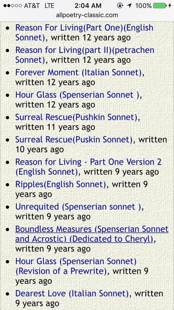 how to write a good sonnet
