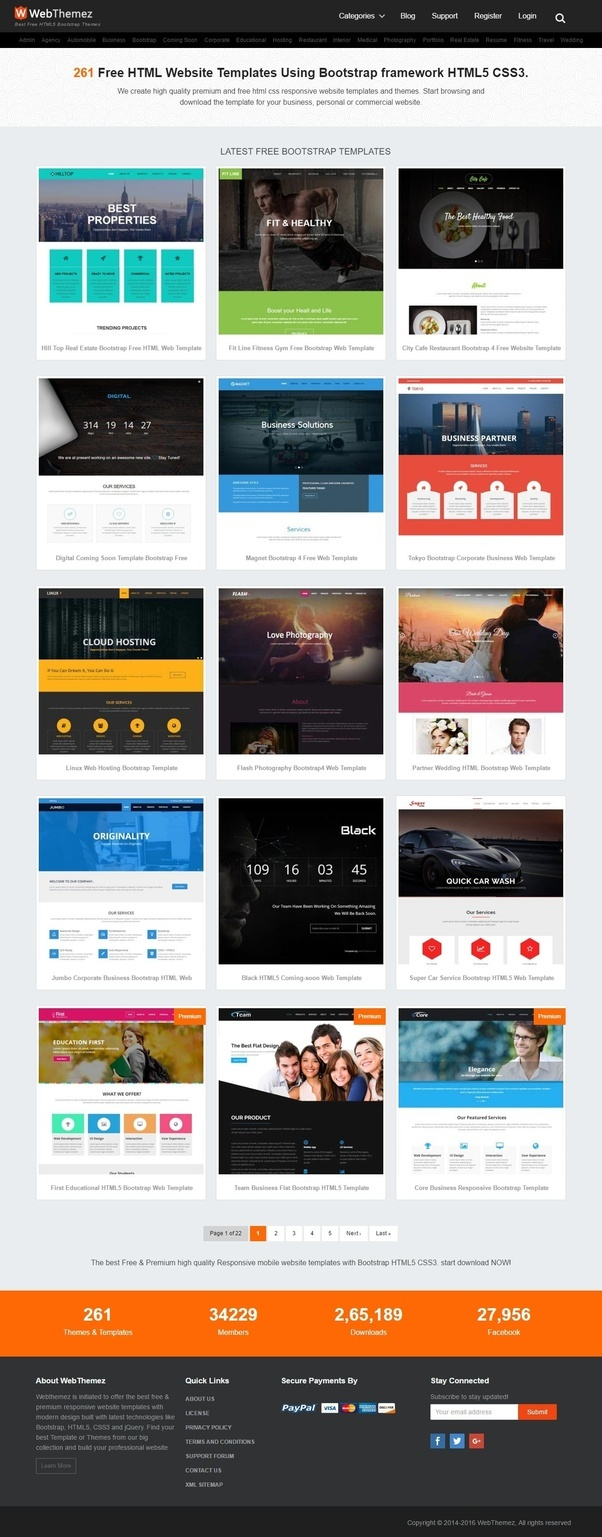 Where can i download free nice html templates quora free responsive bootstrap html web templates maxwellsz