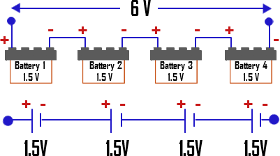 How to connect four batteries in series quora answer wiki publicscrutiny Choice Image