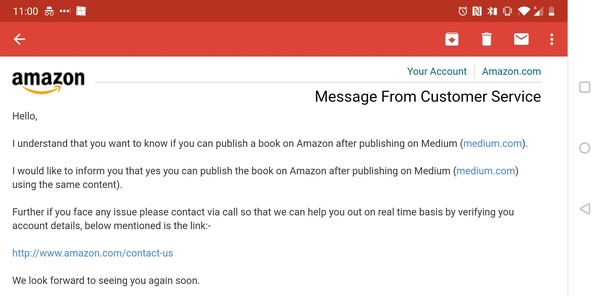 Can I publish a book on Amazon after publishing on Medium