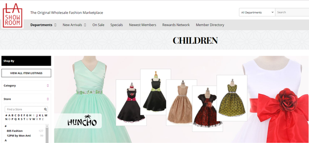 I want to start a children's boutique online  Where can I