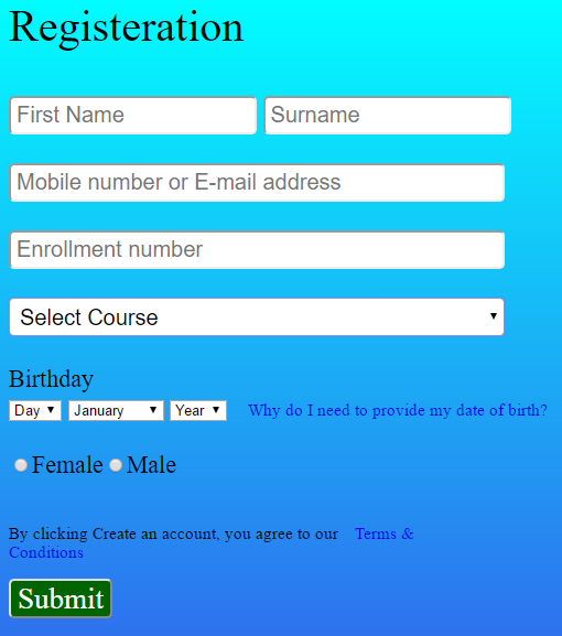 Html Contact Form Code