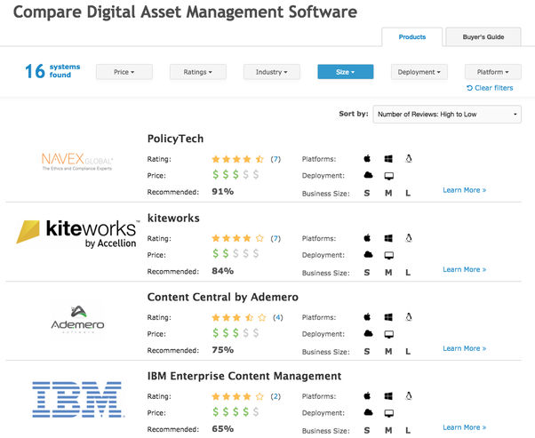 Here Are A Few Of The Highly Rated Enterprise Software Solutions On Our Site Id Recommend Checking Them Out For More De S