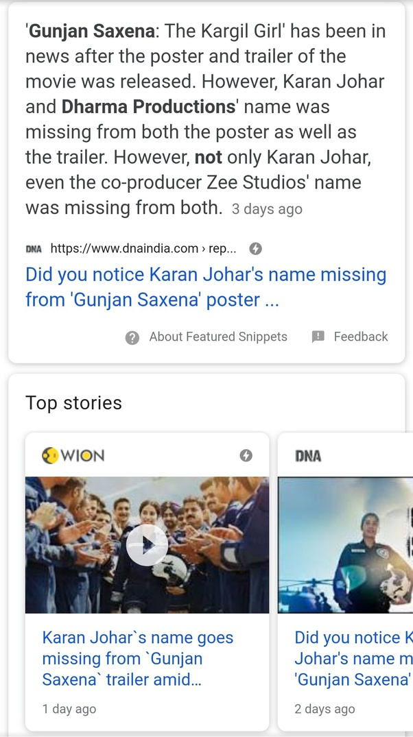 Film Gunjan Saxena Has Been Under The Banner Of Dharma Production Of Karan Johar Why Wasn T This Banner Shown In The Trailer Of That Movie Quora
