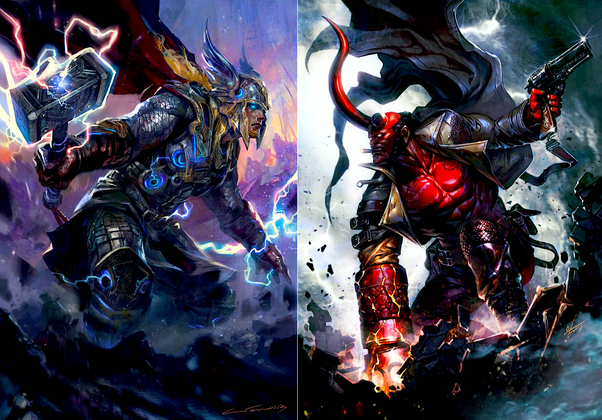 Who would win in a fight between Hellboy and Thor? - Quora