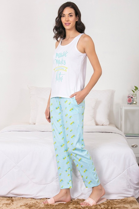 7bf8d6dd126 Many women prefer pajamas as their nightwear. It is a modern women s  choice. They come in cute and funky prints which give away a bold fashion  statement.