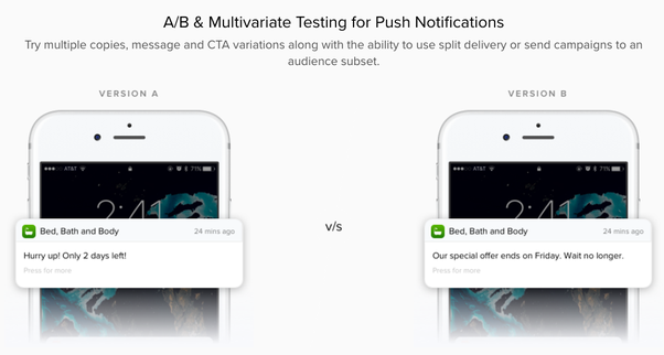 Push message app  How mobile push notifications and messages