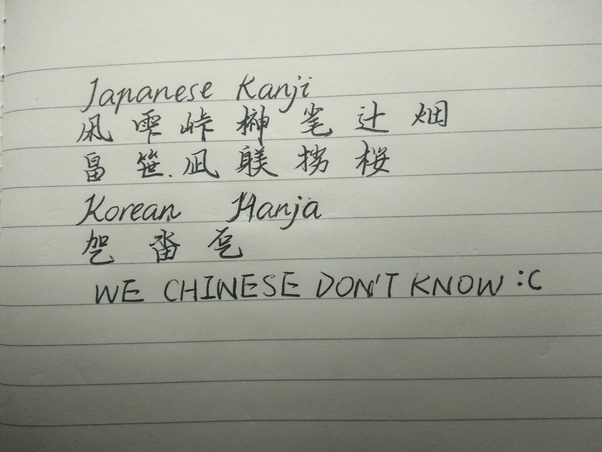 How to not confuse Hanja, Hanzi, and Kanji - QuoraVietnamese Cursive