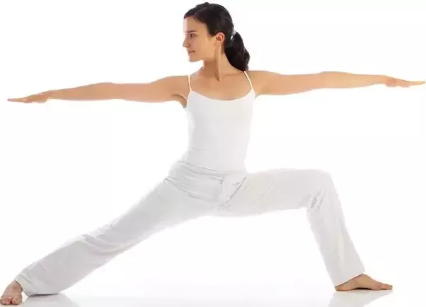 Do weight loss happen only by doing yoga quora stand with your legs placed away from one another now move your right foot to the right side and bend your right knee so that your right thigh is parallel ccuart Image collections