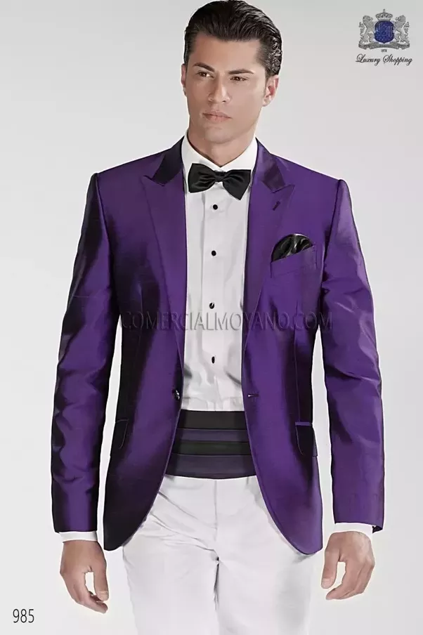 What shirt, tie and trousers should I wear with a purple blazer? - Quora