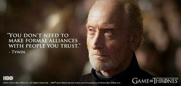 Why do I admire Tywin ...