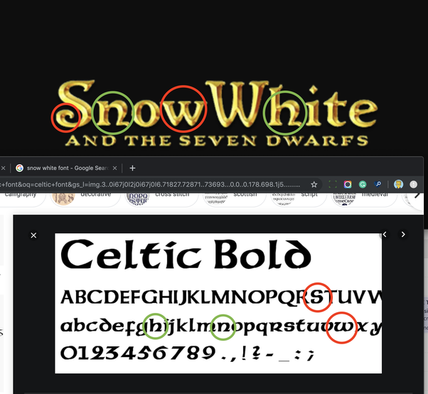 What fonts are used in the Snow White Golden logo? - Quora