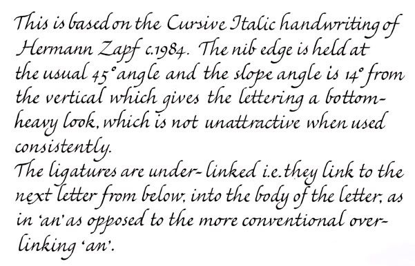 There Are Some Cursive Scripts With Broad Edge Mainly The Italic