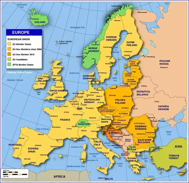 What European Countries Are Not In The EU Quora - Where is belarus