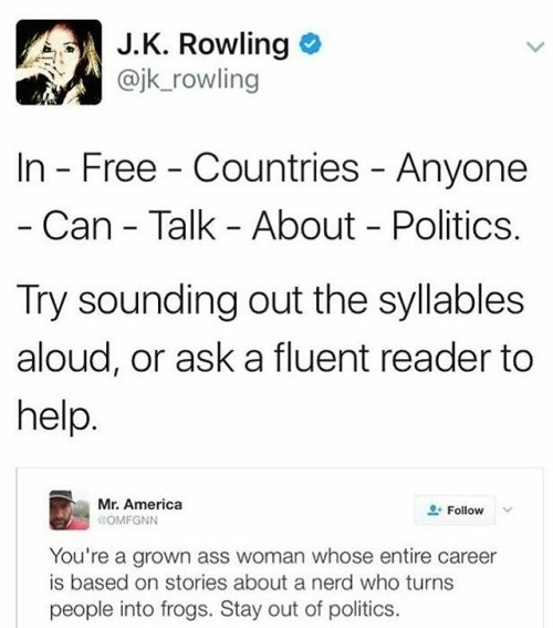 Why does everyone seem to hate J K  Rowling all of a sudden