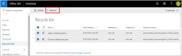 How to recover my data from my OneDrive account, which seems