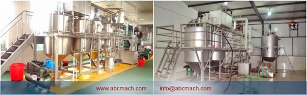What's the common equipment for small scale palm oil