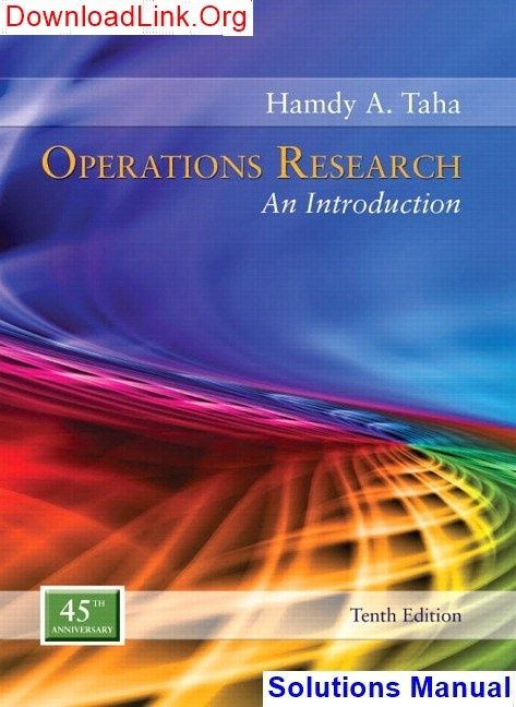 Operation Research Text Book Pdf