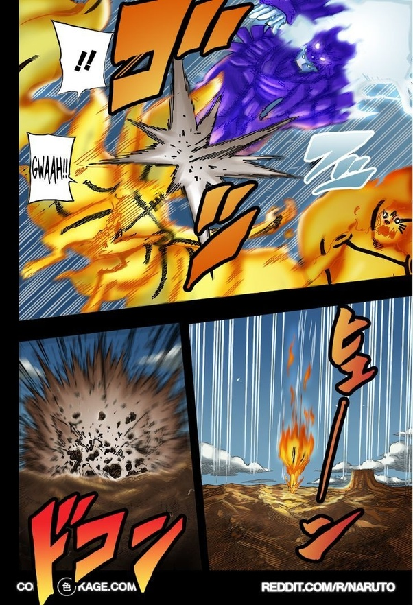 What is the counter attack of Naruto to Sasuke Rinnegan