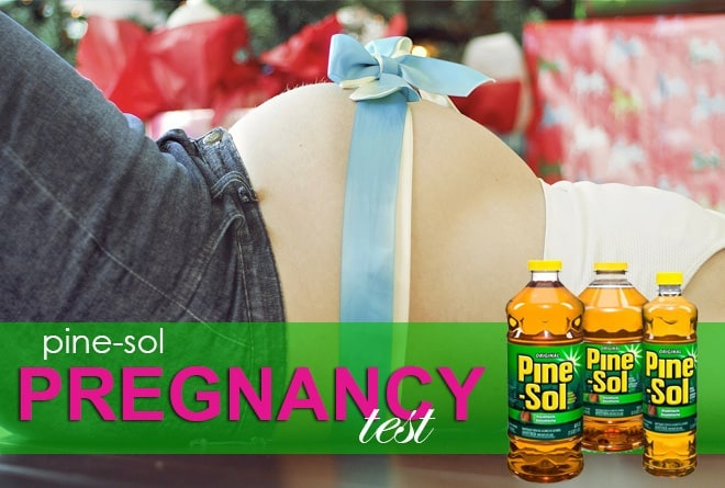 How is the Pine-Sol pregnancy test done