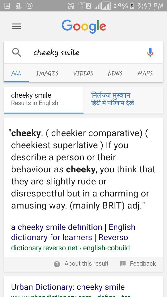 My Friends Says That My Smile Is Cheeky. What Does That