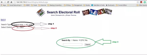 Where can I find 'Part Number in Electoral Roll' and ...