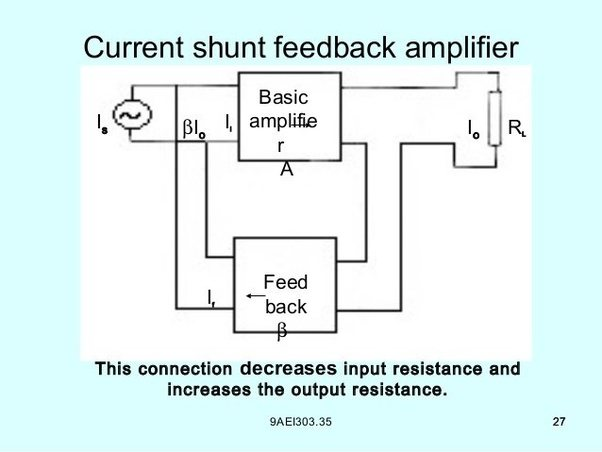 what are the applications of current shunt feedback amplifier quora rh quora com