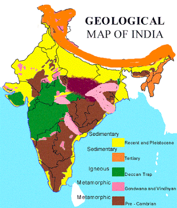 Geological Map Of India.Where Are The Igneous Rocks Found On An Indian Map Quora