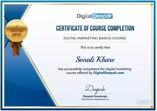 Edit- Today (14–08–17) I received My Certificate From -Digital Deepak