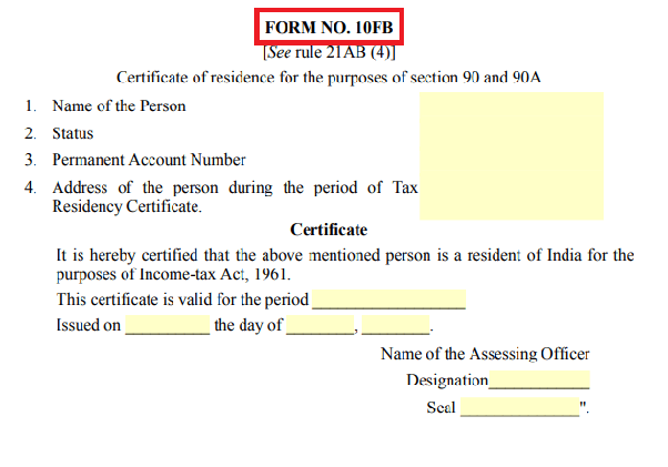 What Is The Process To Obtain A Tax Residence Certificate In India