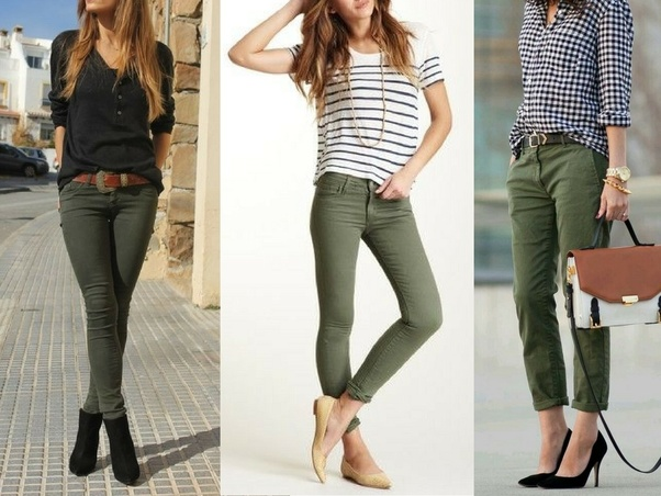 What colors look good with olive green pants quora for What color shirt goes with a purple skirt