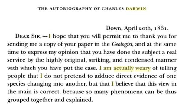 Darwin's autobiography