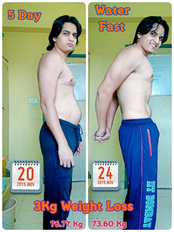 3 day water fast results weight loss