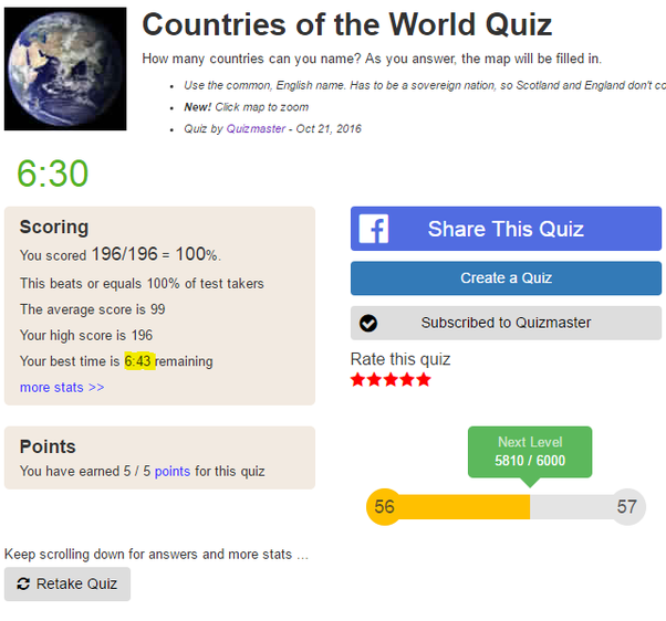 How Many Countries Can You Name Quora - Name countries quiz