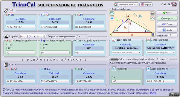 Se Puede Hallar Los Lados De Un Triángulo Conociendo Los Tres ángulos Quora