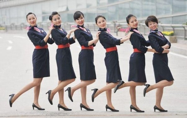 Flight attendants have to wear pantyhose