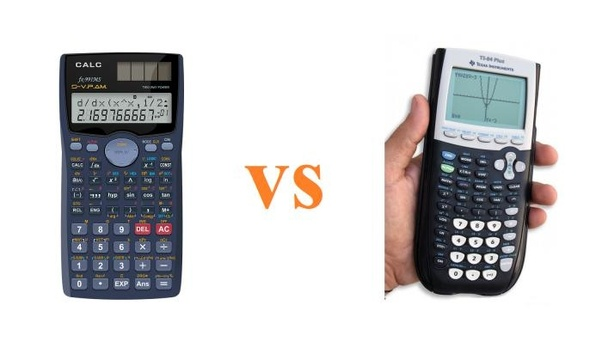what are the differences between scientific calculators and graphing