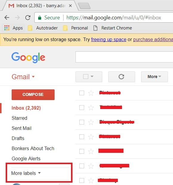 how to read archived emails on gmail