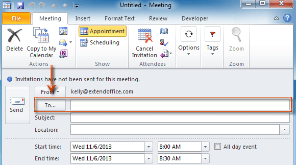 How to place the optional meeting request in outlook quora sometimes you may not remember all attendees email address and enter them correctly in the to box and for the sake of entering more kinds of attendees stopboris