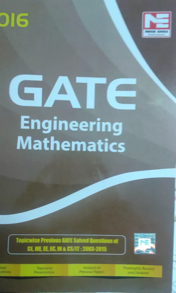 which book is good for mathematics for gate exam preparation quora