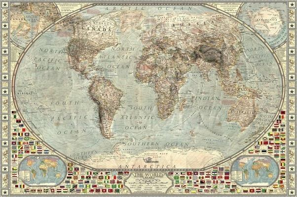 Is There A Map Of The World During The Maximum Of The Last - Been there map