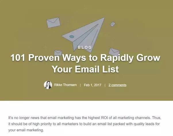 Was ist der beste Weg, um eine E-Mail-Liste für das Marketing zu erstellen?