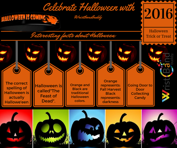 orange is the color of halloween so wear a long coat of black color and orange shirt a hat is must and of course wear halloween wristbands wear it and gift - Color Of Halloween