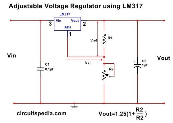 Where do we use a variable power supply like the IC LM317 ... on