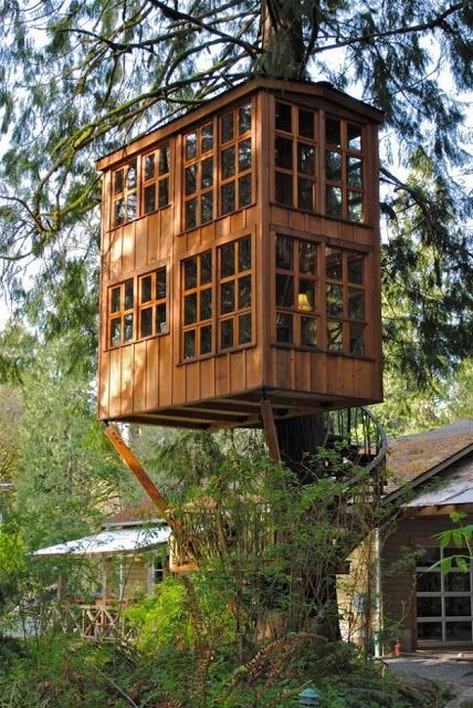 What kind of tree house could I make using shipping pallets