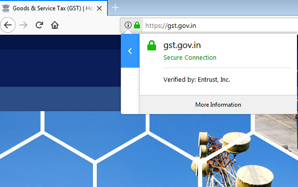 Why does the government GST return website show an SSL certificate ...