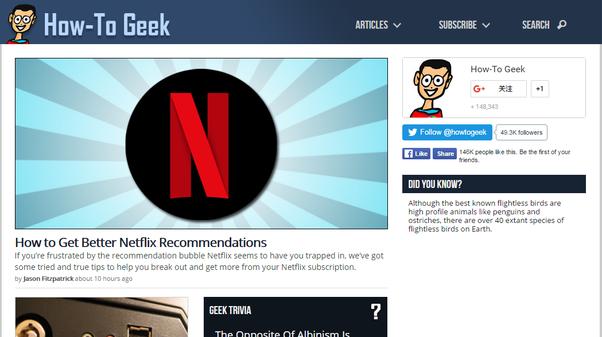 Top geek websites